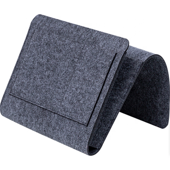 Eco-friendly 100% polyester felt bedside caddy bedside storage organizer bags for sofa organizers