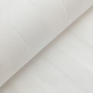 Hotel using white sateen stripe soft pure cotton fabric