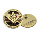 custom metal badge logo kunshan Freemason Magnet Metal Custom Masonic Lapel Pin Badge