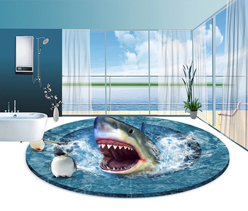 Shark Open The Mouth Epoxy 3d Floor Sticker 3d Flooring Sticker Decoration Lavatory Floor Buy Shark Floor Stickers Decoration Lavatory Floor