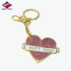 Longzhiyu 12 years professional customized custom heart keychain metal enamel stainless keychain