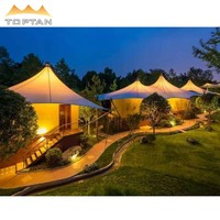 PVDF Roof Cover Glamping Hotel Tent Resort Of Architectural Structure Membrane