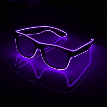 2019 Wholesale EL Wire Flashing LED Shutter Glasses Glowing Party Novelty Gift Festival Glow Sunglasses CM300