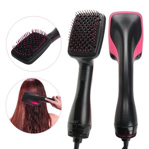 Amazon wholesaler Private label hair blow hair styling tools Dual Voltage one-step hair dryer and straightener Brush
