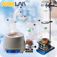 AKMLAB Laboratory Apparatus Glassware Short Path Distillation Kit With Heating mantle