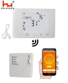 HY09RF-WIFI wireless boiler room digital thermoregulator wifi thermostat for warm floor heating weekly programmable Thermostat