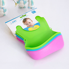 Kids cute silicone TPE bibs/baby lunch bibs/waterproof bibs baby