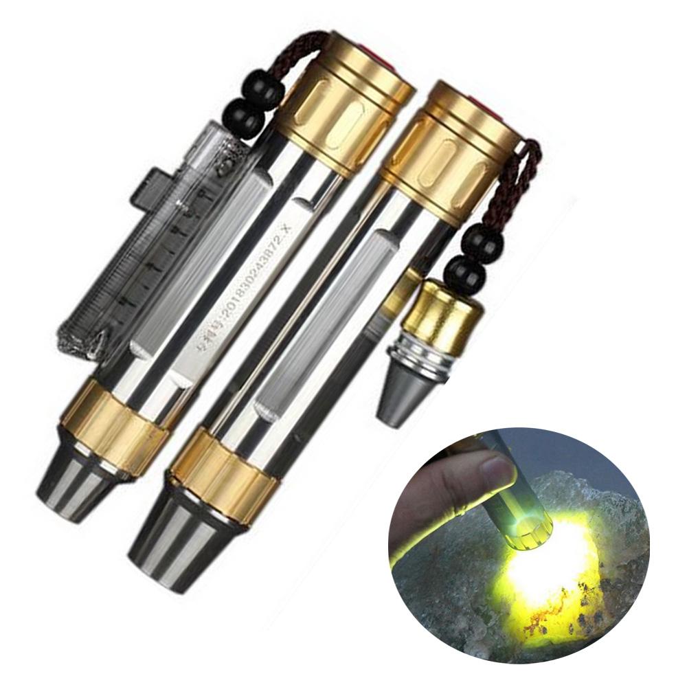 Double XPG R5 DEL Jaune Lumière Blanche pierres précieuses JADE DEL UV Blacklight Flashlight
