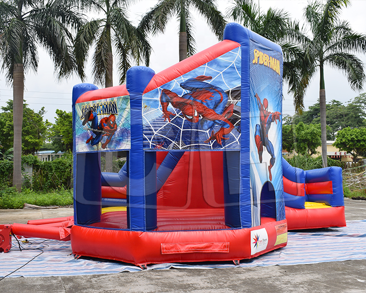 CH inflatable castle 0.55mm PVC bouncy house for kids commercial Low price inflatable spiderman bouncer castle