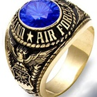 Fashion Stainless Steel US Air Force Military rings Men's jewelry rings with AAAA CZ