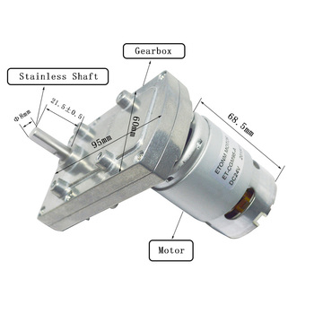 60W Power Consumption and Dia 42mm Size 110v dc motor