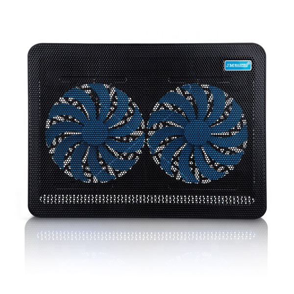 2019 Antiskid design electric <strong>laptop</strong> <strong>cooling</strong> pad 14''~15.6'' notebook <strong>cooling</strong> pad with LED light <strong>fan</strong>