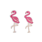 Flamingo custom embroidered appliqued handmade felt iron on patches stickers badges for T-shirt logos jeans jackets