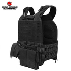 Quick release system Police Men's outdoor black color combat tactical vest