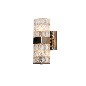 Modern Wall Lamp with Glass for Bedroom Hotel Lobby High-end Rectangular Glass Wall Sconce