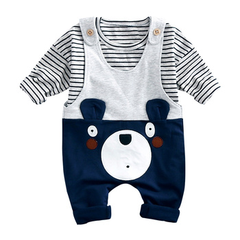 Spring shirt and bear overall set baby suit babies clothings and toys