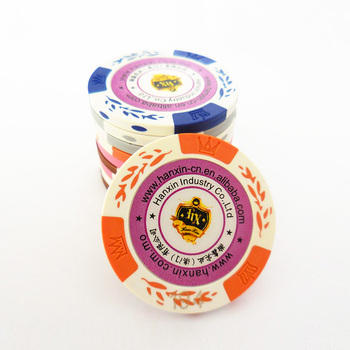 Multi-color printing casino chips 14g plastic poker jetons