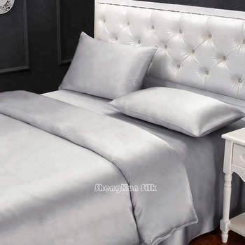 Luxury Silk bedding sheet sets 100% Charmeuse silk Cotton bamboo bedding sheets HOME TEXTILE