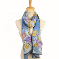 new fashion custom print printed silk scarves chiffon scarf