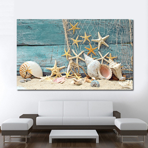 Hot sell Prints Canvas decor Painting Wall Art Light Blue seascape painting for Home decoration artwork