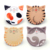 Free samples mats&pads cat shape water absorbent ceramic coasters cup mat for drink