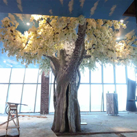 artificial white cherry blossom tree 2019 best selling wedding decoration cherry tree