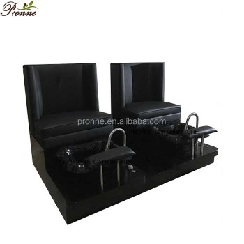 nail salon equipment full black special spa pedicur chair with lighting