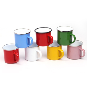 Metal edge personalized sublimation custom enamel mug cup