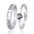 925 Sterling Silver Forever Love Couple CZ Crystal Rhinestone Adjustable Size Engagement Wedding Ring For Women Girls Men Boys
