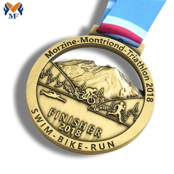 OEM ODM custom made sport race running finisher medals metal marathon medal