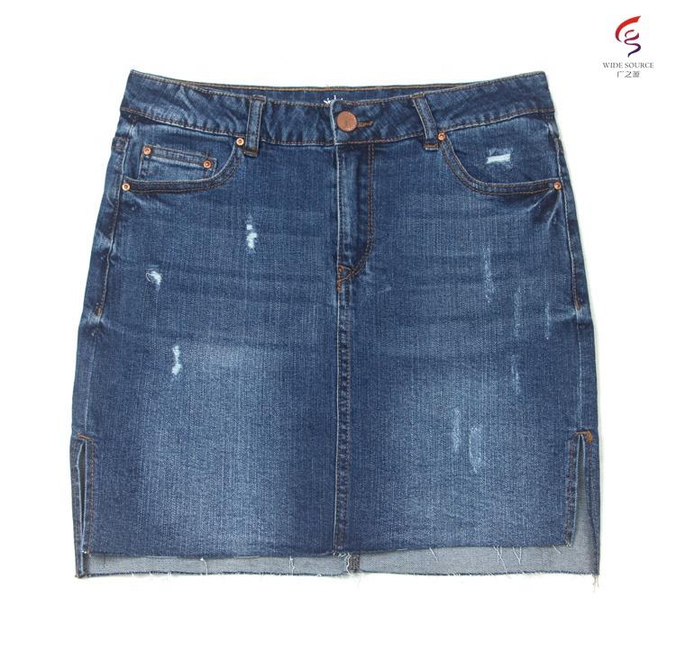 9b58ffbea Venta al por mayor fabrica de faldas jean-Compre online los mejores ...