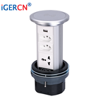 wireless charging manual pop up socket with brazil socket and universal and USB for mobile charging