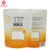 custom doypack zipper plastic bag with rectangular window packaging for 700g JUST WAX