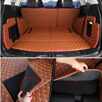 Seven seats SUV all surround 5d leather car trunk mat for Ford Edge/Explorer