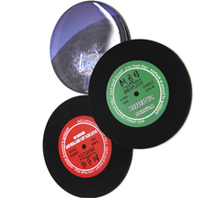 RYHX individuelle personalisieren discs silikon kaffee tasse <span class=keywords><strong>vinyl</strong></span> record coaster mit schnelle lieferung