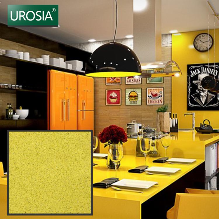 Yellow Grain Quartz Counter Solid Surface Man-made Yellow Star Quartz Stone  Kitchen Countertops - Buy Kitchen Countertops,Solid Surface,Yellow Quartz  ...