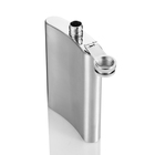 Stainless Steel Hip Flask With Screw Lid 6oz special events gift hip flask with leather