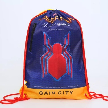 Custom full printing sublimation nylon polyester gym drawstring backpack