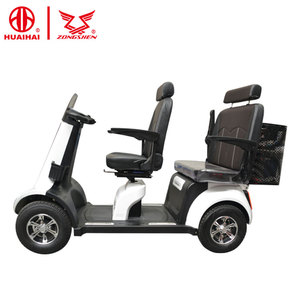 fast lithium battery pride handicapped electric mobility scooter 4 wheel 2 seat for elderly 24v800w