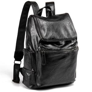 2019 Private label leisure luxury men school bag genuine leather travel backpack