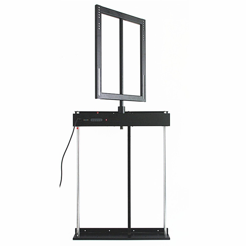 Afstandsbediening 340 graden rotatie gemotoriseerde tv mount lift pop-up tv lift stand