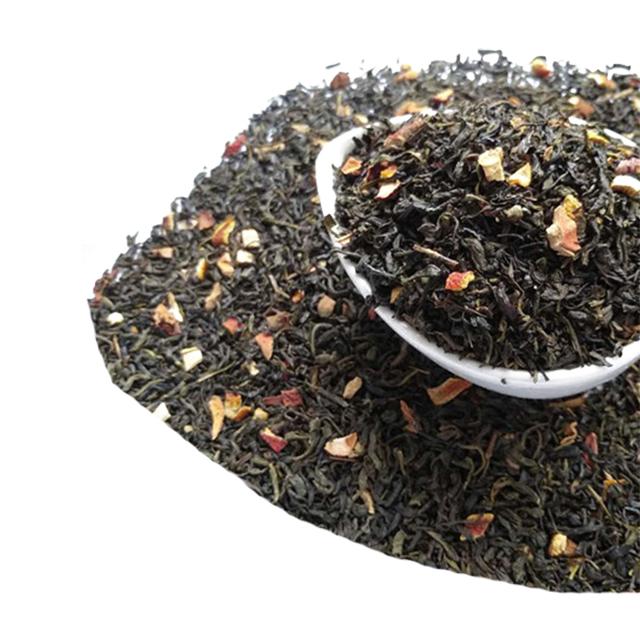 Private label tea free sample chunmee green tea with orange peels flavor tea - 4uTea   4uTea.com