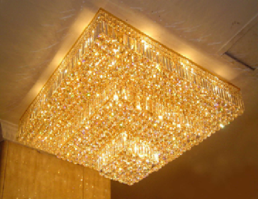 Modern meeting room decorative crystal ceiling lamp empire flush mount light