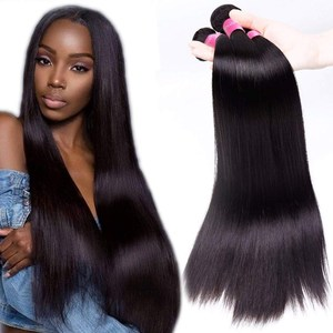 Free Sample Aliexpress full cuticle aligned human hair bundles virgin raw unprocessed indian hair