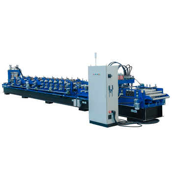 Metal Structure C Purlin framing machine with high efficient punching and cutting system C 70-200