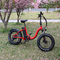 Best 48V 500W Battery Operated E Bike Fat Tire Ladies folding Electric Bike 2017