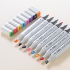 TOUCHLECAI Markers Pen 204 Colors Animation Sketch Marker Dual Head Drawing Art Brush Pens with Japan imports pen tip