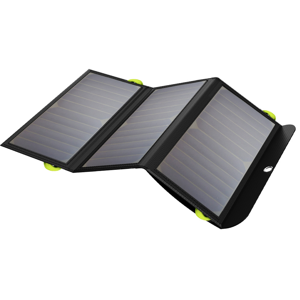21W Foldable Portable Solar Phone Charger built in 6000 mAh battery solar charger for cell phone tablet