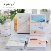 Joytop Traveling 빛 PU <span class=keywords><strong>노트북</strong></span> A6 PU leather journal 자석 폐쇄 플래너 6249