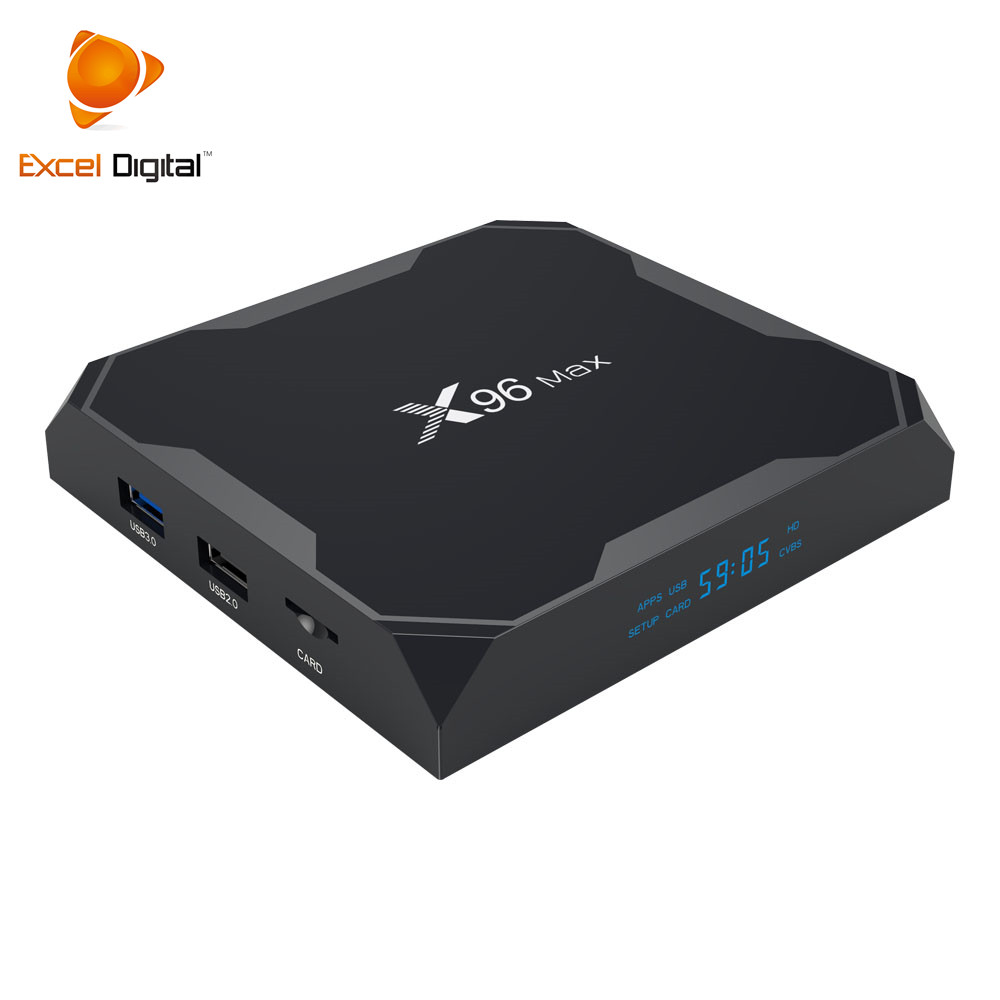 Excel Digitale Coreano X96 MAX 4 GB 64 GB Amlogic S905X2 Scarica Il Manuale per Android X96 Tv Box